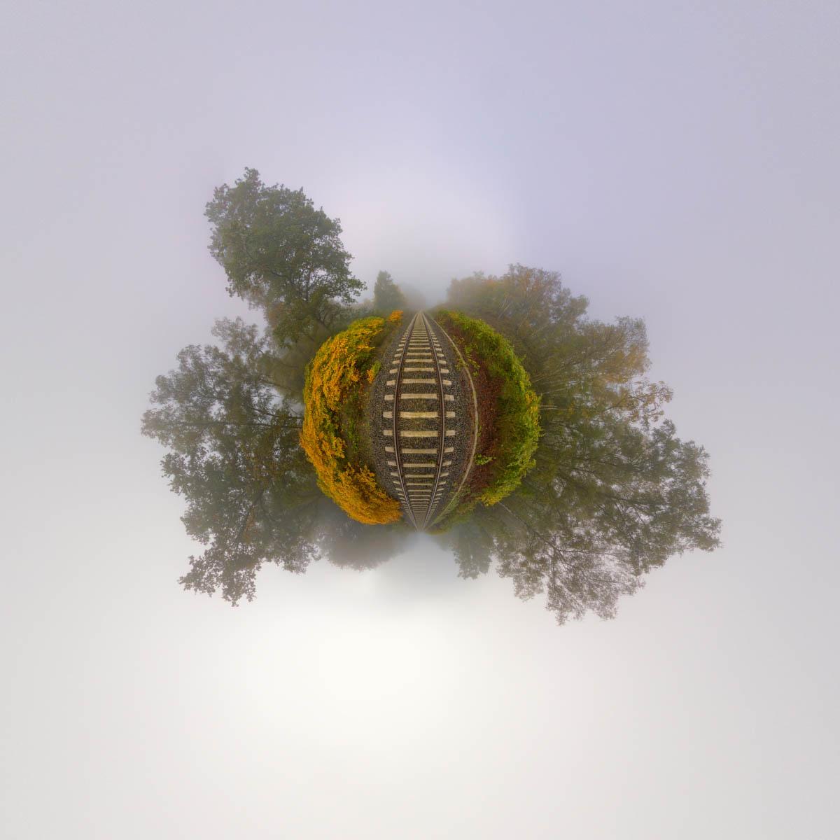 Nebel-Schienen Polarpanorama