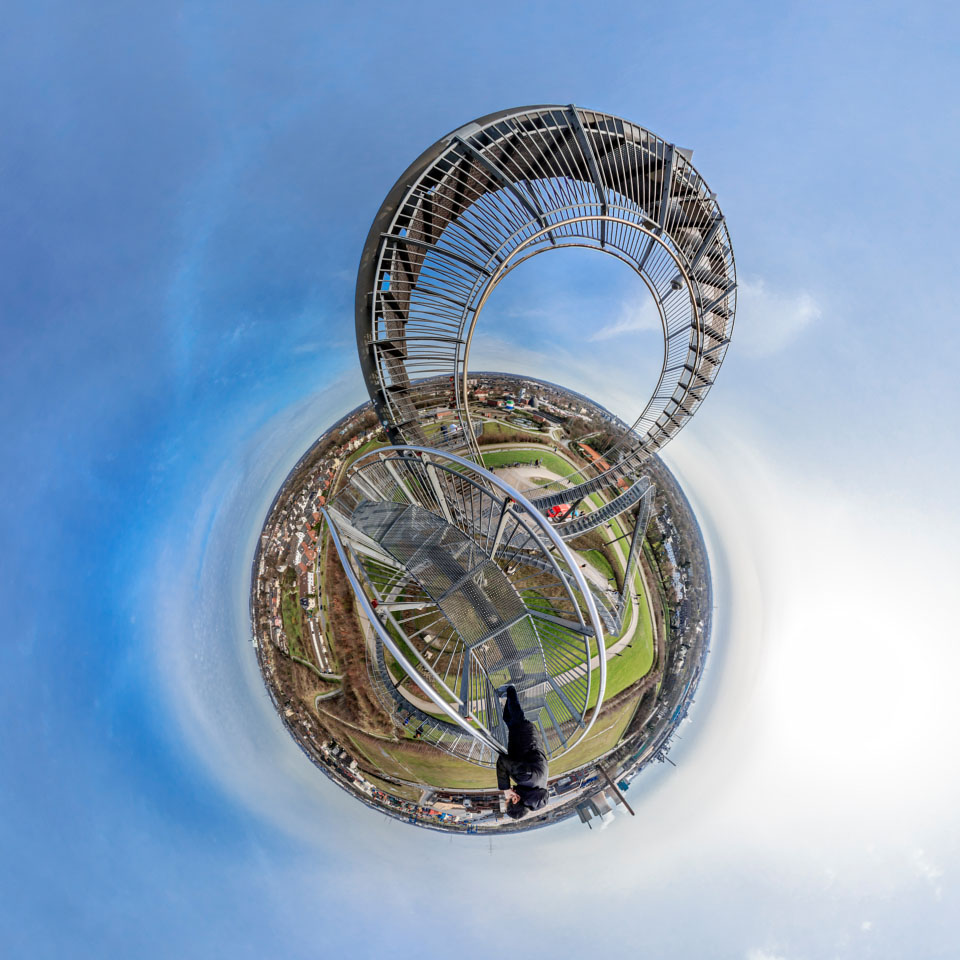 Little Planet Panorama - Tiger And Turtle