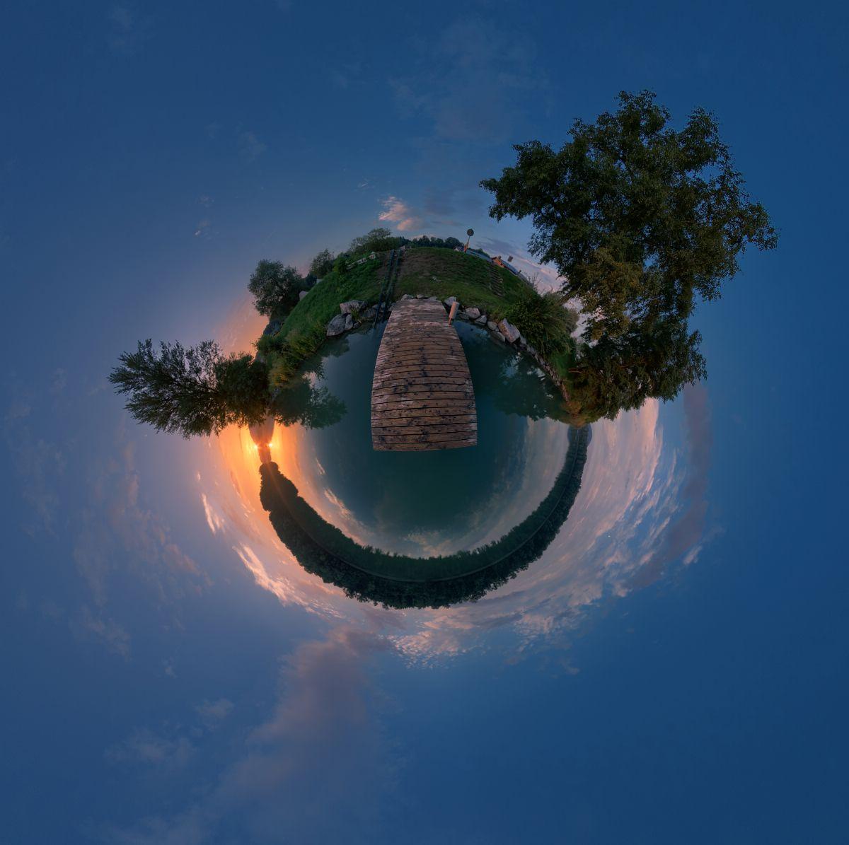Little Planet Rhein bei Murg