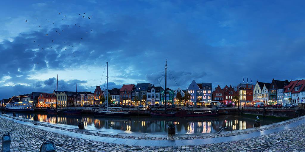 Husum Hafen Panorama