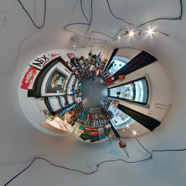 Stereografisches Panorama vom KostNixLaden in Bochum