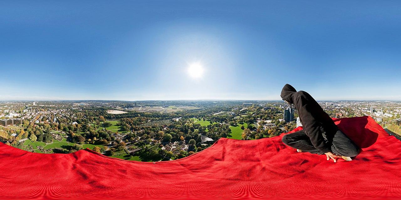 360° Panorama Bild Fliegender Teppich über Dortmund