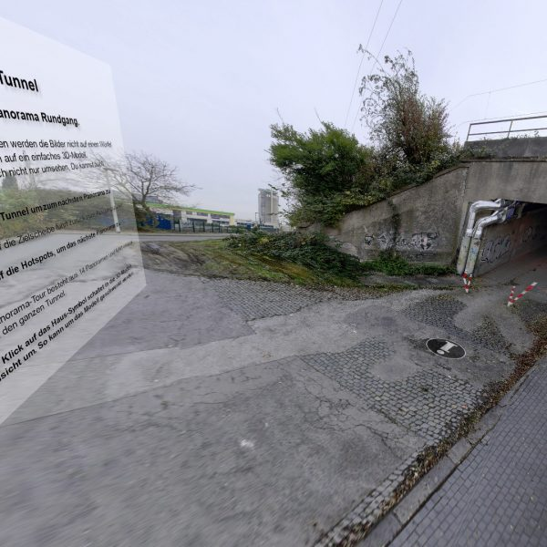 3D Depthmap Panorama Rundgang. Herne Wanne Tunnel