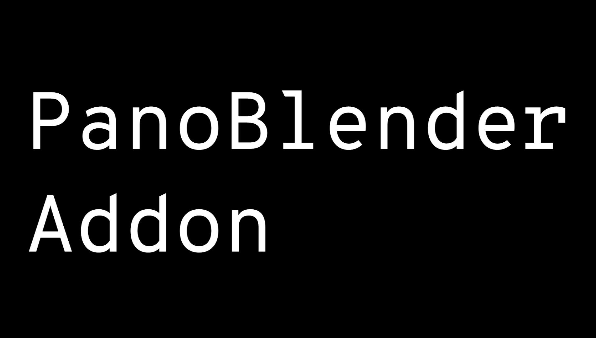 PanoBlender Addon